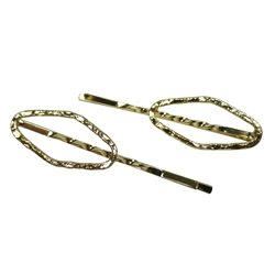 Bobby pin oval gold