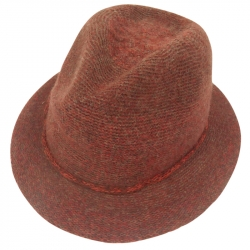 Hat wool 57cm rope burnt orange