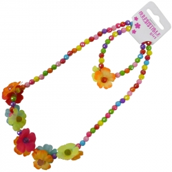 Children necklace assorted leaves
