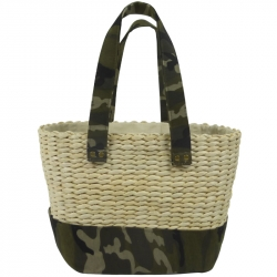 Beach Bag Wicker Camouflage