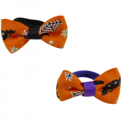 Mini ring Halloween bow