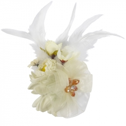 Luxury fascinator ivory