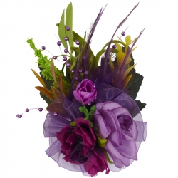 Luxury fascinator purple