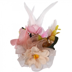 Luxury fascinator pink