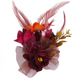 Luxe Fascinator Burgundy
