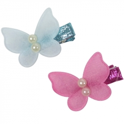 Duck clip 3.0cm butterfly pearls