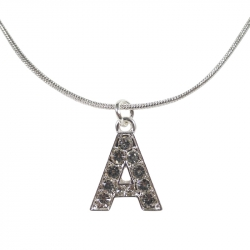 "Letter necklace ""A"" stones"