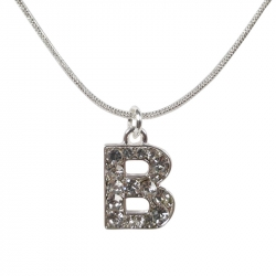 "Letter necklace ""B"" stones"