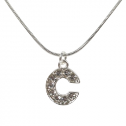 "Letter necklace ""C"" stones"