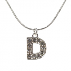 "Letter necklace ""D"" stones"