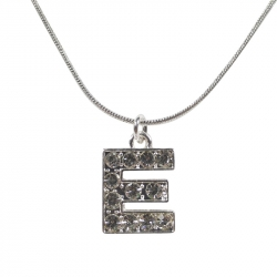 "Letter necklace ""E"" stones"