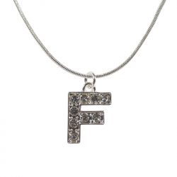 "Letter necklace ""F"" stones"