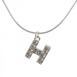 "Letter necklace ""H"" stones"