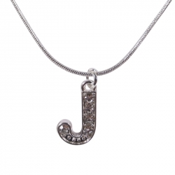 "Letter necklace ""J"" stones"