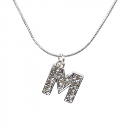 "Letter necklace ""M"" stones"