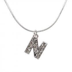 "Letter necklace ""N"" stones"