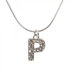 "Letter necklace ""P"" stones"