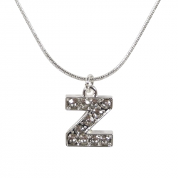 "Letter necklace ""Z"" stones"