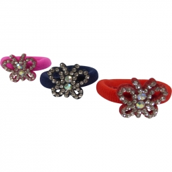 Mini ring butterfly Rhinestones