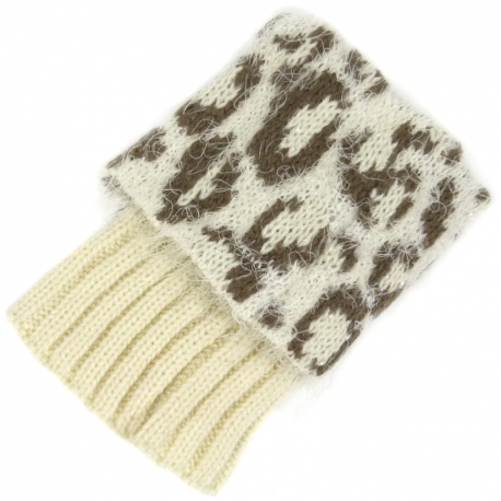 Leg Warmers Furry Animal Ivory