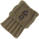 Leg Warmers Buttons Taupe