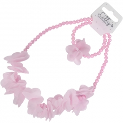 Children necklace/bracelet chiffon flowers