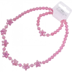 Children necklace/bracelet glitter stars