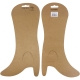 Leg Warmers Diamond Pattern Lurex Light Brown