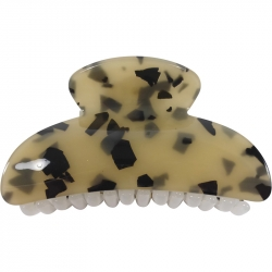 Claw clip 8.0cm milky marble beige