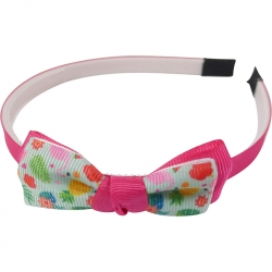 Aliceband 1.0cm bow flamingo