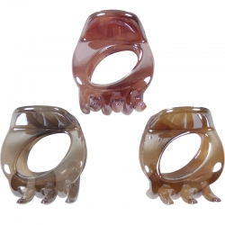 Claw clip 4.0cm marble pearl open