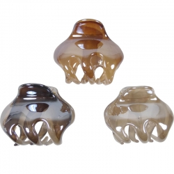Claw clip 4.0cm marble pearl