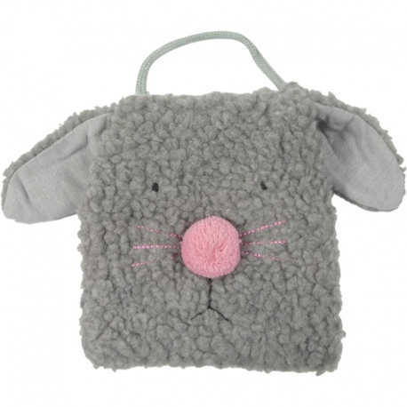 Children bag plush rabbit grey