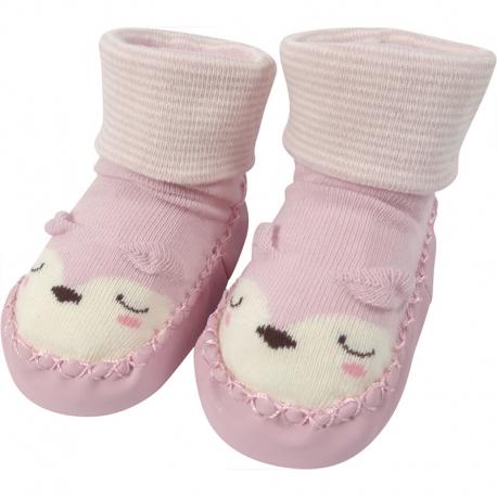 Babyschoentjes Slapend Dier Lichtroze