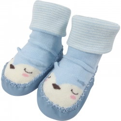 Baby Shoes Sleeping Animal Blue