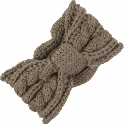 Headband Knitted Cable Pattern Light Taupe