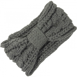 Headband Knitted Cable Pattern Grey