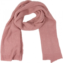 Scarf knitted 40x185cm pink
