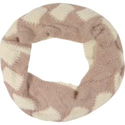 Tunnelscarf two-tone ivory/pink