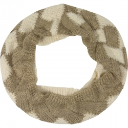 Tunnelscarf two-tone ivory/taupe