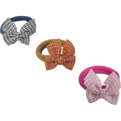 Mini Ring Bow Pied-de-poule