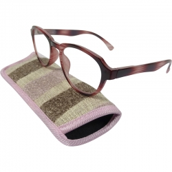 Reading glasses black/pink striped