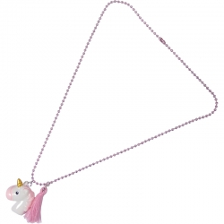 Children necklace light pink unicorn
