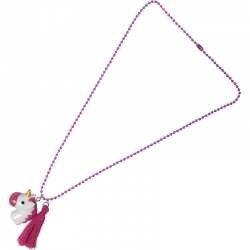 Children necklace fuchsia unicorn