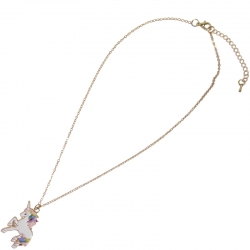 Children necklace gold unicorn