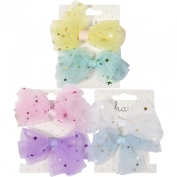 Ponytailer tulle bow with stars