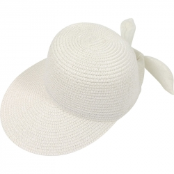 Suncap Straw Adjustable 54-58cm White