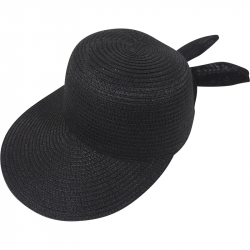 Suncap Straw Adjustable 54-58cm Black