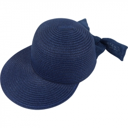 Suncap Straw Adjustable 54-58cm Navy