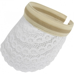 Suncap Lace Aliceband Stripe White